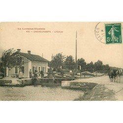 54 CREVECHAMPS. L'Ecluse avec Chevaux de trait pour Péniches 1912