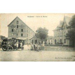 51 ANGLURE. Voiture camionnette à l'Entrée du Moulin 1910