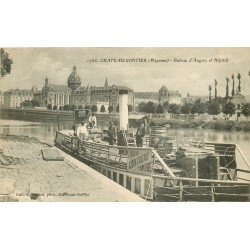 53 CHATEAU GONTIER. Bateau à vapeur d'Angers et l'Hôpital