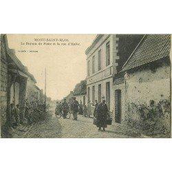62 MONT SAINT ELOI. Bureau de Poste Rue d'Enfer avec Facteur à vélo 1921