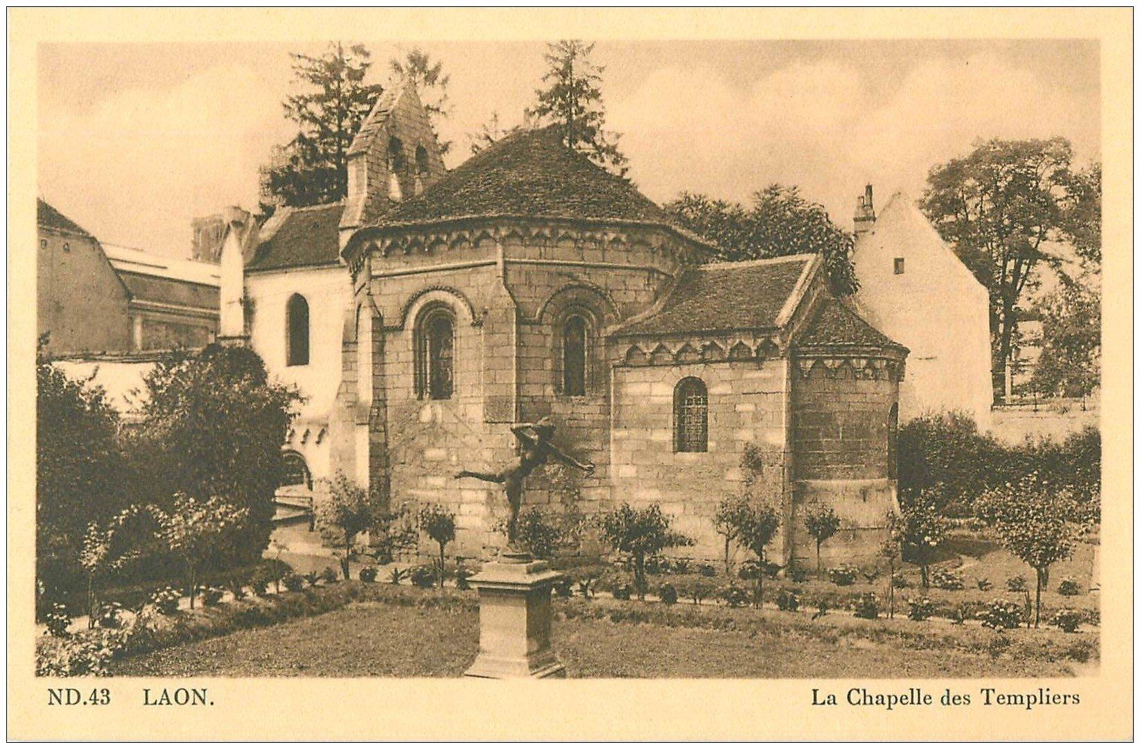 carte postale ancienne 02 LAON. Chapelle des Templiers