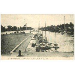 carte postale ancienne 14 OUISTREHAM. Appontement des Yachts 1912