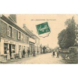 27 GROSSOEUVRE. Rue Principale 1908 Epicerie Mercerie Charcuterie et Café