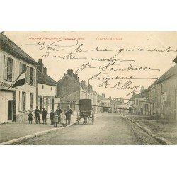 89 VILLENEUVE LA GUYARD. Attelage devant la Gendarmerie Faubourg de Paris avec Gendarme 1904