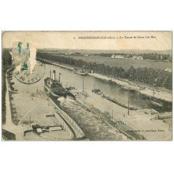 carte postale ancienne 14 OUISTREHAM. Canal de Caen à la Mer. En l'état...