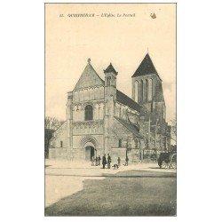 carte postale ancienne 14 OUISTREHAM. Eglise 11 le Portail