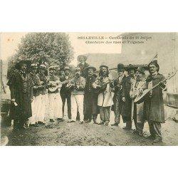 69 BELLEVILLE SUR SAONE. Chanteurs des Rues et Tziganes Cavalcade vers 1906