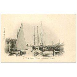 carte postale ancienne 14 OUISTREHAM. Embouchure du Canal vers 1900