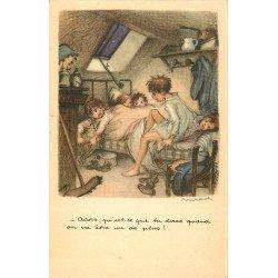 Illustrateur Poulbot. Taudis encombré...