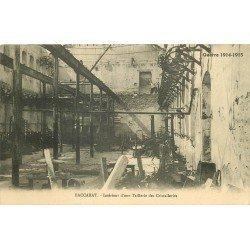 54 BACCARRAT. Une Taillerie des Cristalleries bombardée Guerre 1914-18