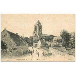 carte postale ancienne 14 OUISTREHAM. La Route du Port