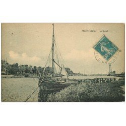 carte postale ancienne 14 OUISTREHAM. Le Canal 1938