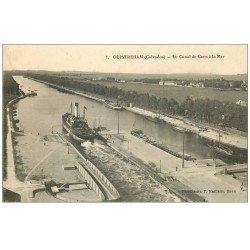 carte postale ancienne 14 OUISTREHAM. Le Canal de Caen à la Mer