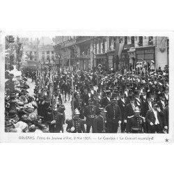 45 ORLEANS. Fêtes Jeanne d'Arc. Le Cortège avec le Conseil municipal. Pompiers et Militaires. photo carte postale