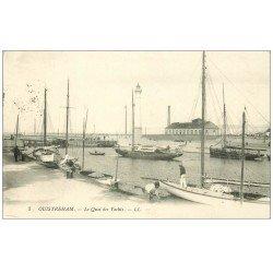 carte postale ancienne 14 OUISTREHAM. Le Quai des Yachts 1913