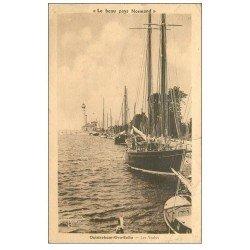 carte postale ancienne 14 OUISTREHAM. Les Yachts. Coupure 1cm