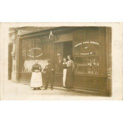 PARIS 11. Café Restaurant Mathieu 41 Rue Faidherbe. Rare Photo carte postale vers 1910
