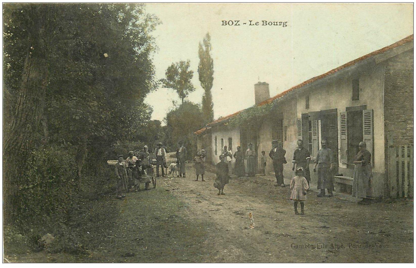 carte postale ancienne 01 Boz. Le Bourg