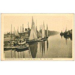 carte postale ancienne 14 OUISTREHAM. Port des Yachts Canal de Caen