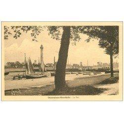 carte postale ancienne 14 OUISTREHAM. RIVA-BELLA. Le Port