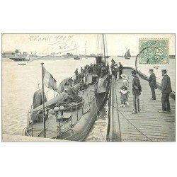 carte postale ancienne 14 OUISTREHAM. Torpilleur 1907