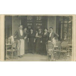 PARIS III. Café Bar Briard 78 rue de Réaumur 1912. Rare photo carte postale ancienne