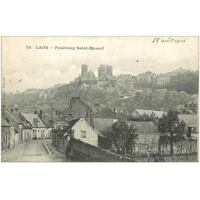 02 laon faubourg saint marcel 1906 for Code postal laon 02