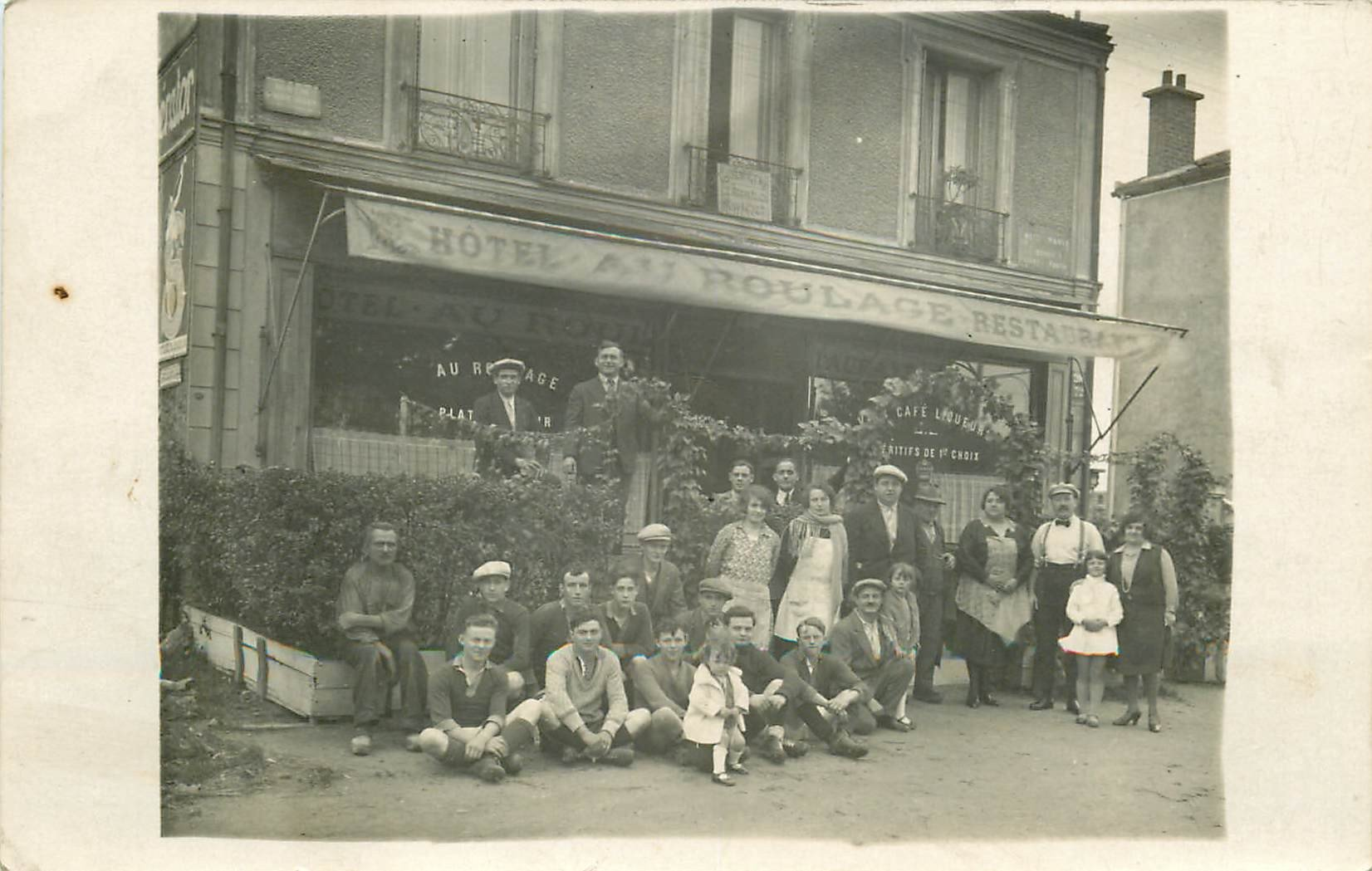 93 BONDY. Hôtel Au Roulage Café Restaurant Mm Routier 106 Avenue Galliéni. Photo carte postale ancienne