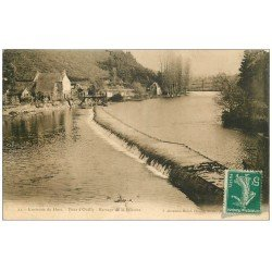 carte postale ancienne 14 PONT-D'OUILLY. Barrage de la Filature 1911