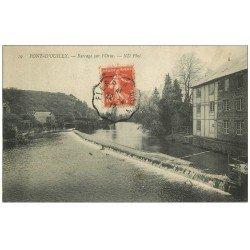 carte postale ancienne 14 PONT-D'OUILLY. Barrage sur l'orne 1912