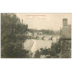 carte postale ancienne 14 PONT-D'OUILLY. Le Pont de l'Orne vers 1900