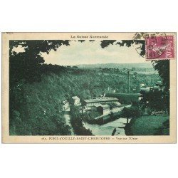 carte postale ancienne 14 PONT-D'OUILLY-SAINT-CHRISTOPHE 1937