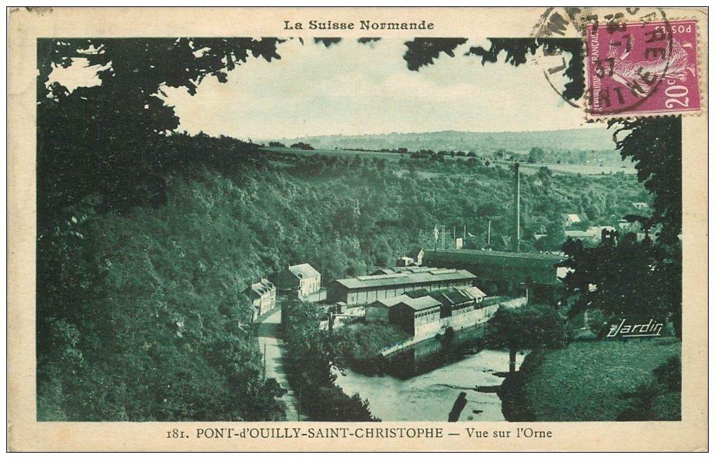 carte postale ancienne 14 PONT-D'OUILLY-SAINT-CHRISTOPHE 1937