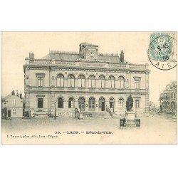 carte postale ancienne 02 LAON. Hôtel de Ville 1906