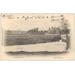 carte postale ancienne 14 PONT-L'EVÊQUE. Ecole Maternelle et Canal Bréban 1903
