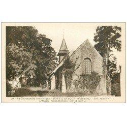 carte postale ancienne 14 PONT-L'EVÊQUE. Eglise Saint-Mélaine
