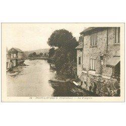 carte postale ancienne 14 PONT-L'EVÊQUE. La Touques 24