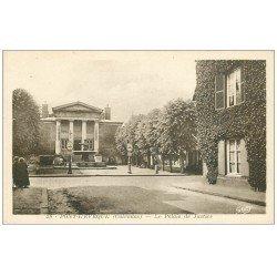 carte postale ancienne 14 PONT-L'EVÊQUE. Palais de Justice