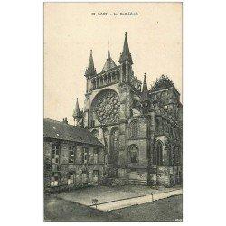 carte postale ancienne 02 LAON. La Cathédrale 1919