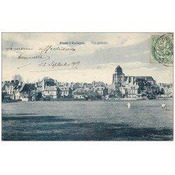 carte postale ancienne 14 PONT-L'EVÊQUE. Vue générale 1907