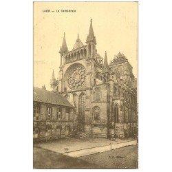 carte postale ancienne 02 LAON. La Cathédrale. Sépia