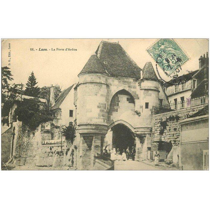 02 laon la porte d 39 ardon 1907 for Code postal laon 02