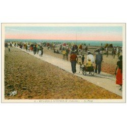 carte postale ancienne 14 RIVA-BELLA. Ballade Attelage de Chèvre
