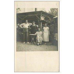 carte postale ancienne 14 RIVA-BELLA. Carte Photo d'une Famille