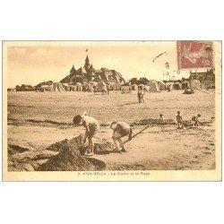 carte postale ancienne 14 RIVA-BELLA. Casino et Plage 1930