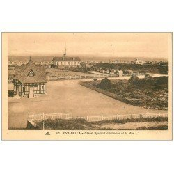 carte postale ancienne 14 RIVA-BELLA. Chalet Syndicat d'initiative