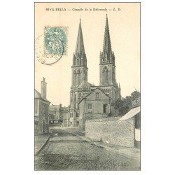 carte postale ancienne 14 RIVA-BELLA. Chapelle de la Délivrande 1904