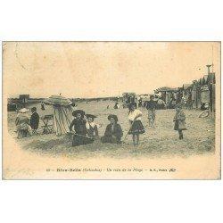 carte postale ancienne 14 RIVA-BELLA. Coin de Plage 1914