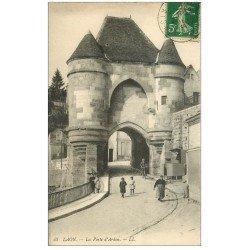 carte postale ancienne 02 LAON. La Porte d'Ardon 1913