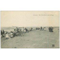 carte postale ancienne 14 RIVA-BELLA. Gymnastique sur la Plage